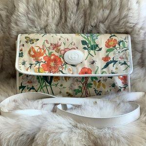 Vintage Gucci Flora Convertible crossbody's clutch